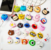 Wholesale dogs cats for free for sale - Free epacket Cable cartoon Animal Bite Protector for iPhone Cable Organizer Winder Phone Holder Accessory Rabbit Dog Cat Cute Design