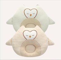 Wholesale v groove - Newborn Baby pillow baby pillow embroidered cartoon newborn anti-head cotton groove new style Fashion Pillows V 001