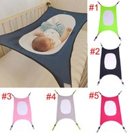 Wholesale solid quilted bedding online - Baby hammock Euro style family removable portable bed multi color baby boy girl safe Hammock