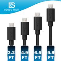 câble de charge usb 2a achat en gros de-Prime 2A à haute vitesse câbles Micro USB Type de câble C Powerline 4 longueurs 1M 2M 1,5M 3M Sync Recharge rapide USB 2.0 pour Android smart