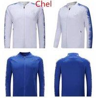 impression de logo uniforme achat en gros de-2018 2019 HAZARD survêtement de football pour adulte 18/19 veste de football survêtement MOROTA KANTE Sweat uniforme logo imprimé M-XXXL