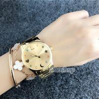 Wholesale clock beads - 2018 Geneva Watches Stainless steel Splendid Luxury Fashion Casual lady bear Bead design Quartz Analog Watches Clock female Casual Watch