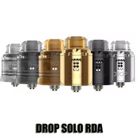 Wholesale large diameter - 100% Original Digiflavor Drop Solo RDA Single Coil 22mm Diameter Stepped Airflow Atomizer 2 Large Post Hole Tank With BF Squonk Pin