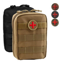 Wholesale Outdoor Medical Kits - 2018 Outdoor Accessories Nylon Tactical MOLLE Accessories First Aid Kit Medical Storage Pockets Send Cross Apostles