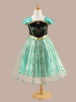 ingrosso cintura del telaio per bambini-Abito da sposa per bambini [speciale] American Frozen Girls dress performance Princess skirt children wear