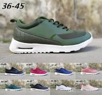 Großhandel Nike 2018 87 90 Mesh Tavas Camouflage Damen Herren Schuhe Authentic Thea Schwarz Rot Weiß Air Caushion Sport Laufschuhe Größe 36 45 Von