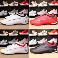 motos de carreras de botas al por mayor-Nuevo MS Future Scuderia enzo Evo Cat Hombres coches de carreras Botas de moto zapatos hombres gatos velocidad del corredor rojo zapatillas blancas zapatos casuales eur37-45