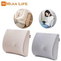 ingrosso cuscino originale-Cuscino lombare originale in cotone Memory Xiaomi Mijia 8H morbido, confortevole per il riposo in auto per l'ufficio. Relax Proteggi il tuo lombare