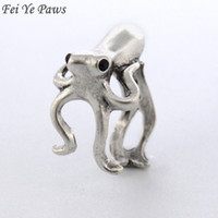 Wholesale Vintage Octopus - whole saleFei Ye Paws New Fashion Vintage Octopus & Sea Animal Ring Anel Rings For Women Men Jewelry Best Gift For Gift Box Packed