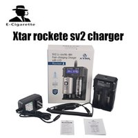 Wholesale 12v li ion batteries - Xtar rockete sv2 charger fast two bay battery charger Input Power 12V DC 2.0A for 18650 or Li-ion batteries VS NITECORE D2