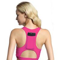 4cb965c3fe894 Colorful Shockproof Sports Bra Elastic Force Fast Drying Yoga Bras Soft  Wireless Gym With Phone Pocket Running Underwear 18yr jj