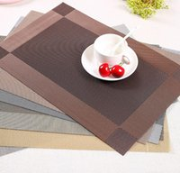 Wholesale wholesale dining placemats - 6styles Pvc Dining Table Placemat Anti-Slip Heat Insulation Resturant Antibacterial Flame Retardant Placemats kitchen canteen mat FFA622