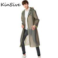 Wholesale Raincoat Trench - Mens Trench Coat 2017 New Fashion Designer Men Ultra-Thin Transparent Long Coat Single Breasted Windproof Raincoat Mens Overcoat
