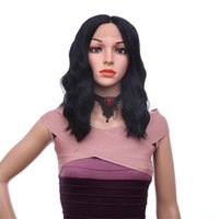 Wholesale curly wigs online - Cosplay Natural Curly Wigs B Color Short Bob Curly Wavy Lace Front Wig Heat Resistant Synthetic Lace Front Wigs for Black Women