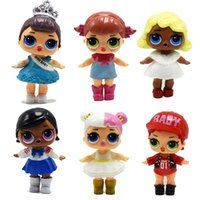 Wholesale new years novelty - NEW LOL Dolls 8cm PVC Toys 6Pcs Lot Unpacking LoL Doll Action Figure Surprise Toys for Kids Gift Wholesale