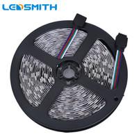 12v führte blaue dioden großhandel-RGB LED Streifen 5050 SMD 5M 300LEDS flexibles Licht 12V kühles Weiß / warmes Weiß / Rot / Grün / Blau Flexibles LED Band-Dioden-Band