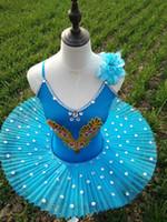 erwachsene schwan kostüm großhandel-Ballett-Tutu für Mädchen Adult Professional Ballett Tutu Kind Kinder Schwanensee Pink Blau Kostüme Pancake Ballerina Dress