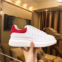 Wholesale Real Peach - 2018 Hot Sale Men Sneakers Mc Casual Superstar Red Bottom Mqueen Shoes Real Row Leather Back Lace Up Running Shoes Free Shipping 35-45