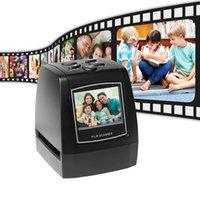 35mm fotoğraflar toptan satış-Protable Negatif Film Tarayıcı 35mm 135mm Slayt Film Dönüştürücü Fotoğraf Dijital Görüntü Görüntüleyici ile 512 MB Dahili Bellek Düzenleme