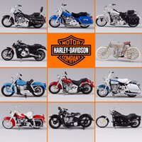 Wholesale maisto motorcycles resale online - Maisto Simulation Motorcycle Toy Alloy Harley Series Motorcycle Car Collectible Model Kids Toys Gift