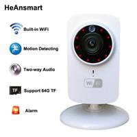 cámara ip wifi mp al por mayor-1080x720P Cámara IP inalámbrica Portátil inteligente Wifi CCTV Cámara de seguridad Webcam Vigilancia Videocámara Visión nocturna Audio Video Telecamera