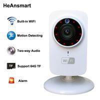 kameralar için gece görüşü toptan satış-HD 1080x720 P Kablosuz IP Kamera Taşınabilir akıllı Wifi CCTV Güvenlik Kamera Webcam Gözetleme Kamera Gece Görüş Ses Video Telecamera