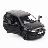 Wholesale toy cars brands - Brand new 1:36 scale alloy pull back toy vehicle gift,boy cars toy land rover evoque Diecast Metal Car Model free shipping black color