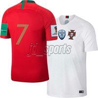 5136c7bbb6 camisas de portugal venda por atacado-Portugal 2018 Copa do mundo de Casa  Fora Camisas