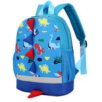 sacos de escola infantis venda por atacado-3D Mochilas De Dinossauro Dos Desenhos Animados para Crianças Do Jardim de Infância das Crianças Mochilas Escolares para Crianças Meninos Meninas Sacos De Escola Infantil