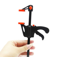 Wholesale Hand Clamp Tool - wooden clip holder hand tool clamp fast fix woodworking clip F 4 inches factory direct selling wood work tool