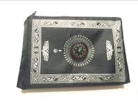 ingrosso bussola di qibla-Stuoia di preghiera della tasca di viaggio 200pcs / lot con la bussola Qibla Finder stuoia di preghiera musulmana islamica con il sacchetto ed incastonato