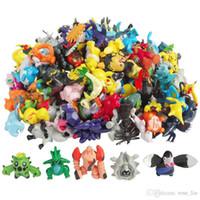 ingrosso figure di 3cm-144pcs / set Figure Giocattoli 2-3cm Multicolor Natale Bambini cartoon Pikachu Charizard Eevee Bulbasaur PVC Mini Modello Toy B