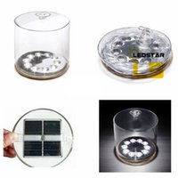 Wholesale solar powered lanterns for camping - Inflatable Solar powered lamp outdoor waterproof for Garden Camping Emergency LED Lantern night light DHL Shipping