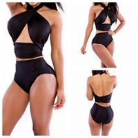 wickeln ein stück ein großhandel-Art und Weise reizvoller Frauen-Bikini-gesetzte Badebekleidung wickeln Sie die Kasten-große Größe S M XL einteiliger Badeanzug-Badekurort-konservative Klage-Dame Beach Wear ein
