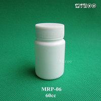 Wholesale small plastic pill bottles for sale - Group buy 50sets cc round shape design plastic capsules bottle HDPE small plastic pill medicine white Refillable bottle