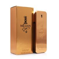 homens perfume quente venda por atacado-2018 Perfume quente! Rabanne Gold Million homem perfume 100ml e mulheres 80ml perfume com longa duração tempo Million Spary perfume