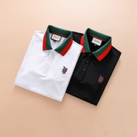 Wholesale broadcloth weave - Italy Men's Polos Short-Sleeves Letter Vers embroidery designer 3D Brand Luxury polo short T-shirts Tees Shirt for man Slim Black white M-3X