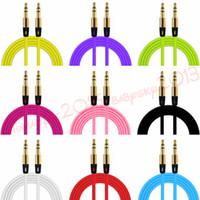 ingrosso estensione cavo ausiliario-Aux Auxiliary Cable 3.5mm Cavi audio maschio-maschio 1M Cavo di prolunga per auto stereo per iphone samsung mp3 pc speaker cuffia