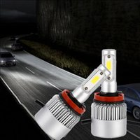 parlak otomatik ampuller toptan satış-H11 COB Araba LED Far Oto Ampul Far Süper Parlak Işın Araba Ampuller Lambalar Işık Araba Ampuller OOA4975