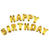 şişirilebilir folyo harfleri toptan satış-Renkli Alüminyum Folyo Balonlar Alfabe Harfleri Mutlu Doğum Günü Partisi Dekorasyon Çocuklar için Şişme Oyuncaklar