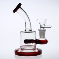 Wholesale chinese bongs resale online - Mini Chinese Red Gift Glass Bongs dab rig perc Small glass bong arm tree oil mm cm recycler smoking pipes Bong feb eggs