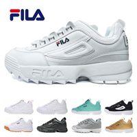 buy online 65de0 ce1f4 Original FILA Disruptors II 2 Triple weiß schwarz grau pink Damen Herren  Special Section Sport Sneaker erhöht lässige Laufschuhe eur 36-44