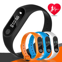 Wholesale m2 smart bracelet online - M2 Fitness tracker Watch Band Heart Rate Monitor Waterproof Activity Tracker Smart Bracelet Pedometer Call remind Health Wristband free DHL
