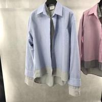 Wholesale Double Collar Shirt Women - VETEMEN OVERSIZE shirt Men women High Quality Flag shirts Leisure shirt harajuku shirts Hip-Hop Double-deck veteme