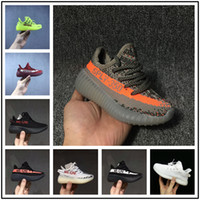 best baby girl shoes NZ - 2018 best Baby Kids Run Shoes Kanye West SPLY 350 Running Shoes V2 Children Athletic Shoes Boys Girls Beluga 2.0 Sneakers Black Red