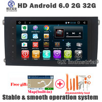 Wholesale Free Link Building - QZ industrial HD 9inch Android 6.0 for Porsche Cayenne car DVD player with with GPS 3G 4G WIFI Radio Navi BT SWC Mirror link Stereo free map