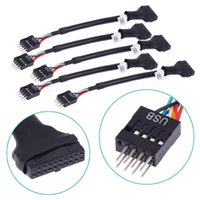 Wholesale pc motherboard cables resale online - New Promotion Pin USB Female to Pin USB2 Male Motherboard Cable mbps Data Speed Computer Cable Connectors