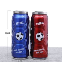 Wholesale fashion design can for sale - 500ml Fashion Cans Shape Drinking Cups Creative Portable Outdoor Straw Container Coke Bottle Design Stainless Steel Vacuum Cup ss Z