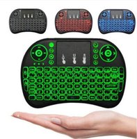 Wholesale mini bluetooth keyboard touchpad android - Portable mini keyboard Rii Mini i8 Wireless bluetooth Keyboards game Fly Air Mouse Multi-Media Remote Control Touchpad Handheld Android PC