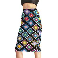 2b681b9338f Popular Women Sexy High Waist Midi Skirts Tennis Bowling Skirts Slim  Elastic Digital Print New Hot Female Party Apparel S to 4XL
